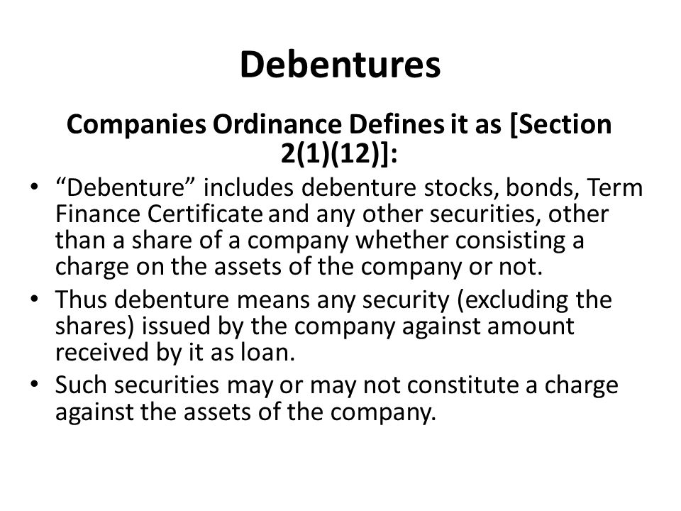Companies Ordinance Defines it as [Section 2(1)(12)]: